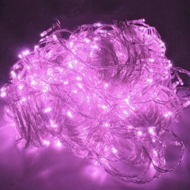 Wootop-10M 100 Led Pink Fairy Light String Holiday Lights For Christmas Party Led-Xs-Pink