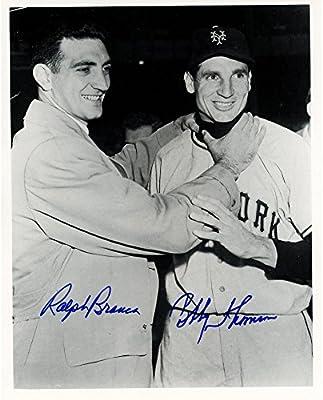 "Ralph Branca & Bobby Thomson Los Angeles Dodgers Dual Autographed 8"" x 10"" Photograph - Fanatics Authentic Certified"