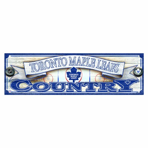 NHL Toronto Maple Leafs 9-by-30 Wood Sign