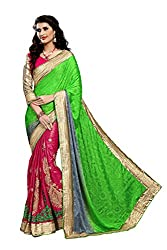 coolwomen women's georgette embroidered free size fancy saree-cw_NMD2A213_green_free size