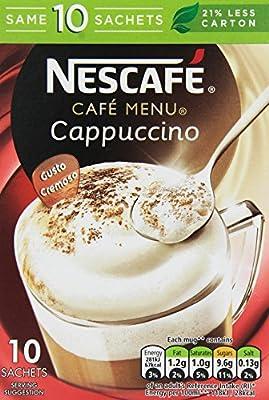 Nescafé Café Menu Cappuccino Original Coffee 17 g (Pack of 6, Total 60 Sachets)