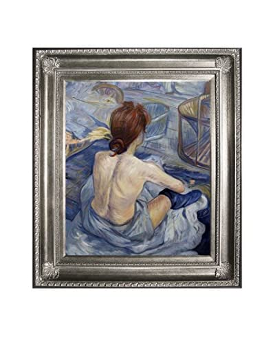 Henri De Toulouse-Lautrec's Woman At Her Toil Framed Hand Painted Oil On Canvas, Multi