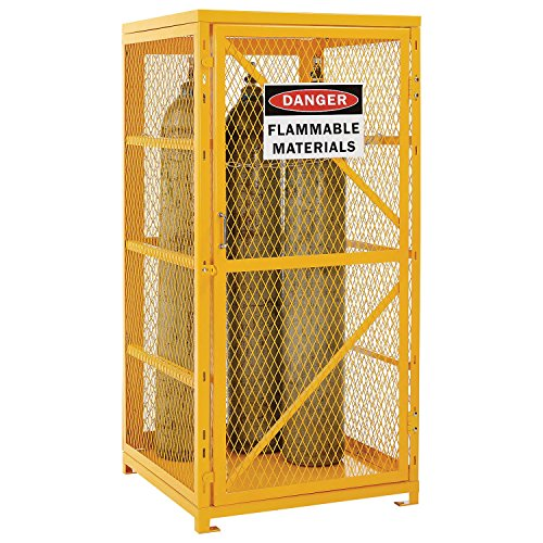 Storage Cabinet Single Door Vertical, 9 Cylinder Capacity, Assembled (Gas Cylinder Storage compare prices)