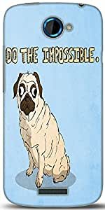 Snoogg Do The Impossible Cute Designer Protective Back Case Cover For HTC One S