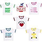 #5: Zura's Export Quality Cotton Boy Baby Tshirt / Girl Baby Tshirt / Baby dress / Kids Tshirt / Baby Teeshirt (Pack of 5)
