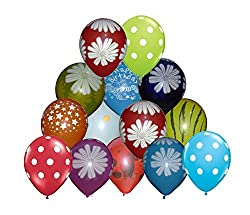 Tiger 50028 Colorful Large Balloon Multicolor Printed (Pack of 30)