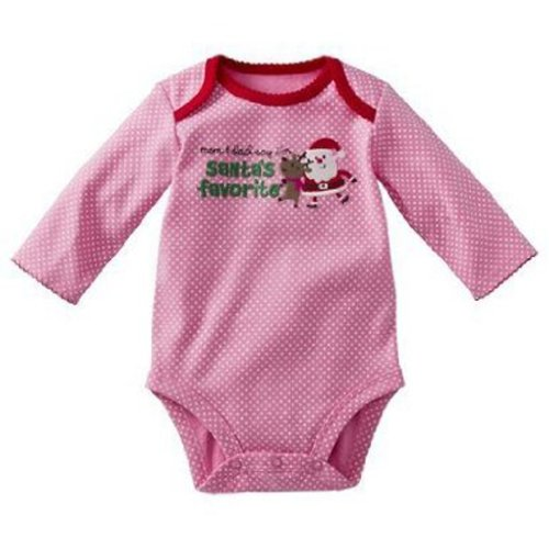 Just One You Made By Carter'S Infant Girls Bodysuit Santa'S Favorite (9Mos) front-30838