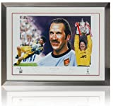 Huge David Seaman hand signed fine art print (LOT691)
