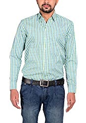 Riwas Collection Men's Formal Shirt (r-110_Green_XX-Large)