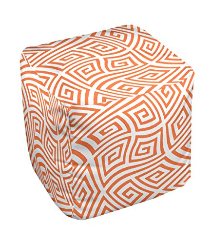 E by design FG-N9-Celosia_Orange-13 Geometric Pouf
