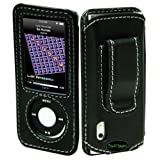 CrazyOnDigital Premium Black iPod Nano 5th Generation Leather Case. CrazyOnDigital Retail Package ~ CrazyOnDigital