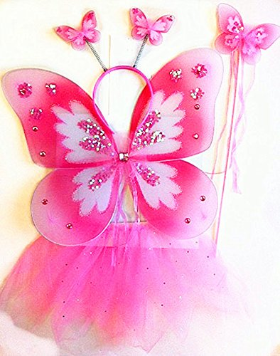 Butterfly Tutu Dress Up Set - Pink