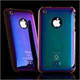 CAPDASE iPhone 3G & 3GS Karapace Protective Case with Screen Guard Crystal Clear: Shimma, Purple プロテクティブ ハードリアカバー シンマ (クリスタル・クリアー 液晶保護シート 付き) パープル KPIH3G-3S05