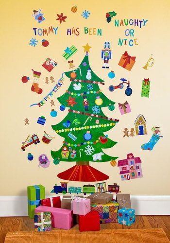 Oopsy Daisy Peel and Place Happy Holidays by Jill McDonald, 54 by 60-Inch