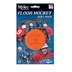 Mylec Floor Hockey Puck, Orange (Pack of 6) by Mylec