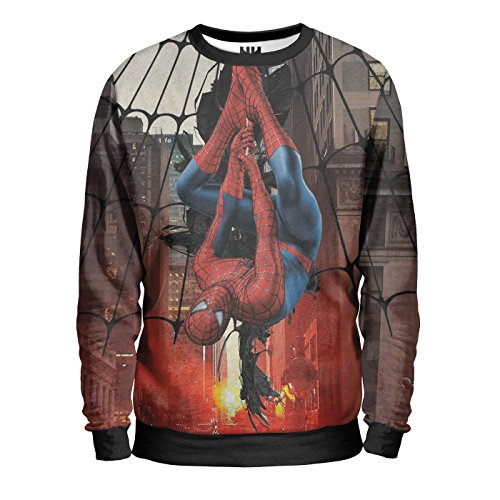 SPIDER MAN HOMECOMING - Marvel Comics Sweatshirt Man - Uomo Ragno Felpa Uomo - Peter Parker Venom Goblin, Amazing Spider-Man T-Shirt Fumetti Film Supereroi