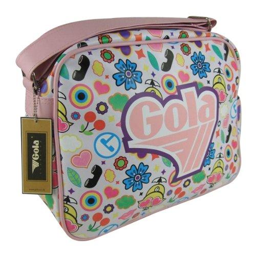 Gola Tado Tutti White Pink Redford Shoulder Record Bag