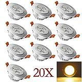 HENGDA Hengda® 20X 3W LED SMD AC85-265V (20,
