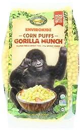 Envirokidz Organic Corn Puffs Gorilla Munch Enviropakz, 23-Ounce Bags (Pack of 3)
