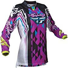 Fly Racing Girls Kinetic Jersey, Purple/Teal, Gender: Womens, Size: 2XL 365-4282X