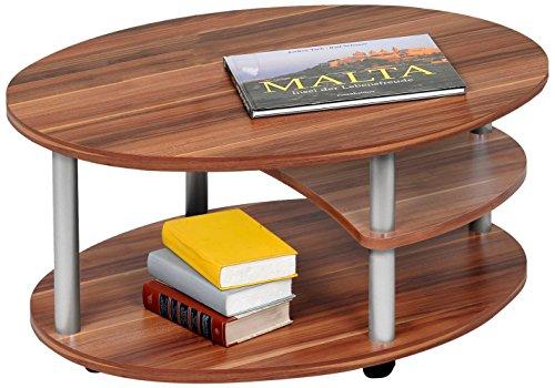 Alfa-Tische-M2082-Couchtisch-Primo-91-x-70-cm-walnu-Dekor-auf-Rollen-Ausfhrung-oval