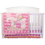 Trend Lab Dr. Seuss Oh The Places You'll Go 3 Piece Crib Bedding Set, Pink