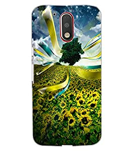 ColourCraft Beautiful Flowers Design Back Case Cover for MOTOROLA MOTO G4