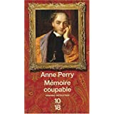 M�moire coupablepar Anne Perry