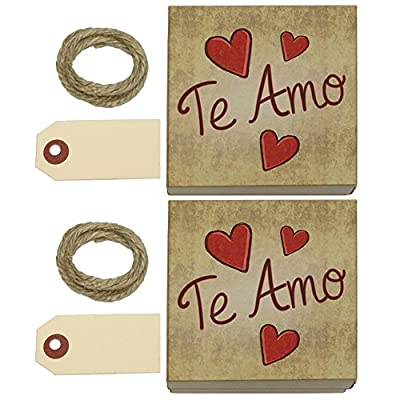 Te Amo Handwritten Kraft Gift Boxes Set of 2
