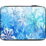 Snoogg Snowflakes Pattern 2534 13 To 13.6 Inch Laptop Netbook Notebook Slipcase Sleeve