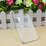 Suppion Transparent Hard Skin Case Cover For IPhone 5 5S (Silver)