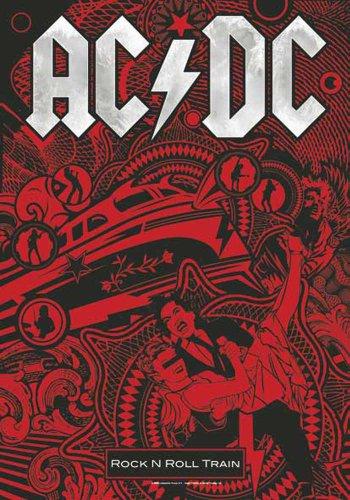 AC/DC-Rock n Roll Train di bandiera-bandiera Poster 100% poliestere