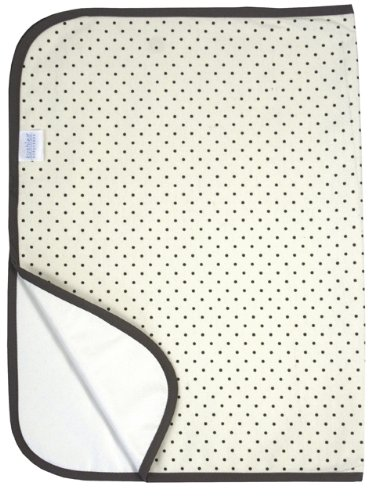 Kushies Waterproof Change Pad, Cream Polka Dots