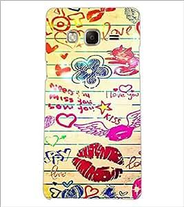 PrintDhaba Love D-6097 Back Case Cover for SAMSUNG Z3 (Multi-Coloured)