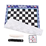 Picture Of <h1>ilovebaby Two In One Checkers and Mega- Large, Colorful, Extremely Easy To Play, Classic Games For Family And Kids, Fun- Different Strategies, Both Indoor And Outdoor</h1>