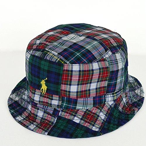 (ポロ ラルフローレン) POLO Ralph Lauren Reversible Patch Bucket Hat リバーシブル ハット S/Mサイズ NAVY/MULTI (並行輸入品)