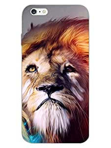 His Majesty - Majestic Lion - Hard Back Case Cover for Apple iPhone 6 S Plus - Superior Matte Finish - HD Printed Cases and Covers