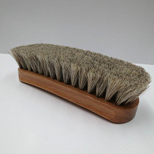 Neutral Shoe Shine Buffing Brush 100% Horsehair Horse Hair Wood Handle Boot Small