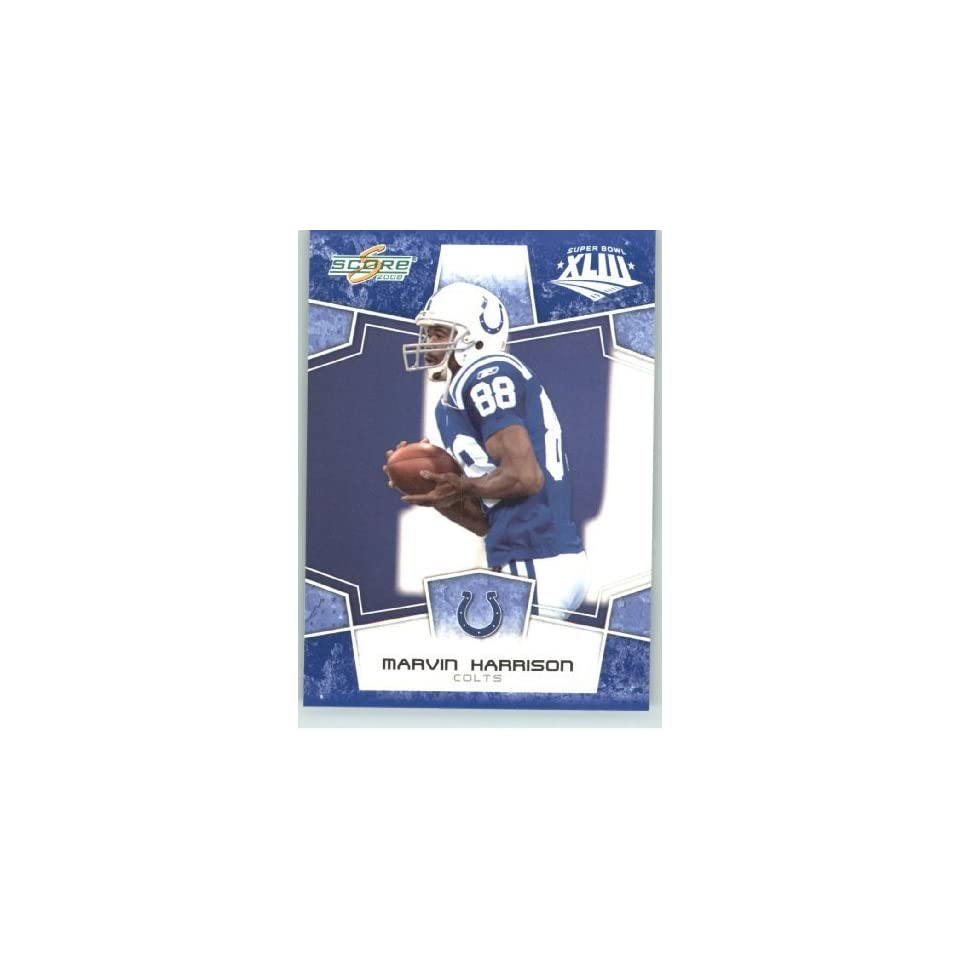 2008 Donruss   Score Limited Edition Super Bowl XLIII Blue Border # 129 Marvin Harrison   Indianapolis Colts   NFL Trading Card