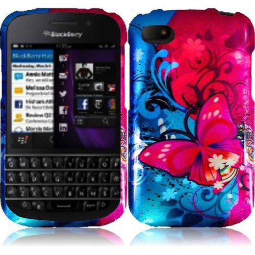 Cell Accessories For Less (Tm) For Blackberry Q10 Design Cover Case - Butterfly Bliss // Free Shipping By Thetargetbuys