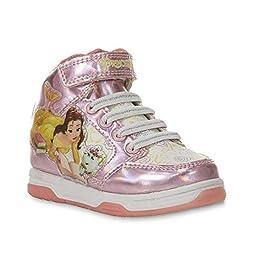 Disney Princess Girl\'s Belle Pink High-Top Athletic Shoe - Toddler (10)