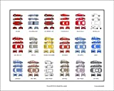 Lancia Automobile Collection Original Print Art | Years and Models Auto Car Gift