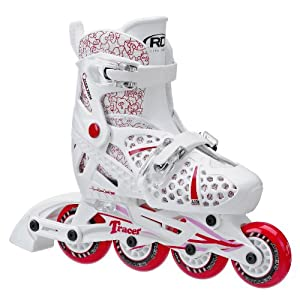 Roller Derby Girls Tracer Adjustable Inline Skate, Medium