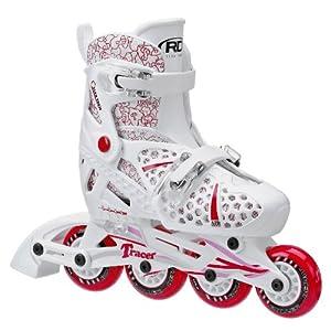 Roller Derby Girls Tracer Adjustable Inline Skate, Medium