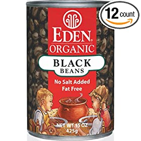 Eden Foods Organic Black Beans Can ( 12x15 OZ)