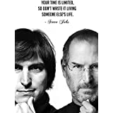 Steve Jobs Motivational And Inspirational Quotes Poster For Office And Kids Room - 100yellow