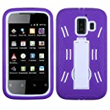 ASMYNA White/Purple Symbiosis Stand Protector Cover for HUAWEI U8665 (Fusion 2)