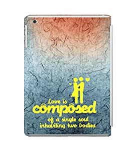EPICCASE love is composed Mobile Back Case Cover For Apple Ipad Mini 2 (Designer Case)
