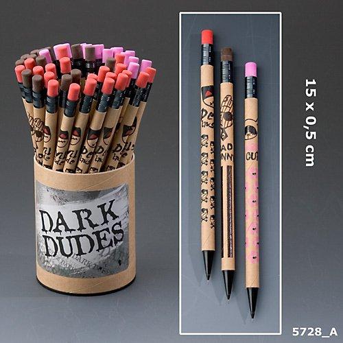 Dark Dudes Bleistift mit Radiergummi Druckbleistift Bad Bunny rot Devil inside