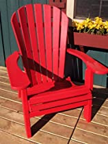 Hot Sale PHAT TOMMY Recycled Poly Deluxe Folding Adirondack Chair Eco Friendly Red